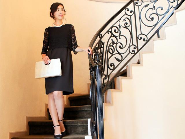 結婚式に黒のドレスをオシャレに着る