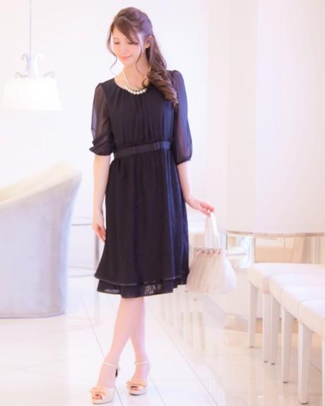長袖ドレス ブラック