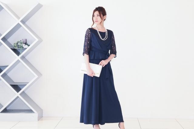 リネン風のシフォンで軽やかなパンツドレス