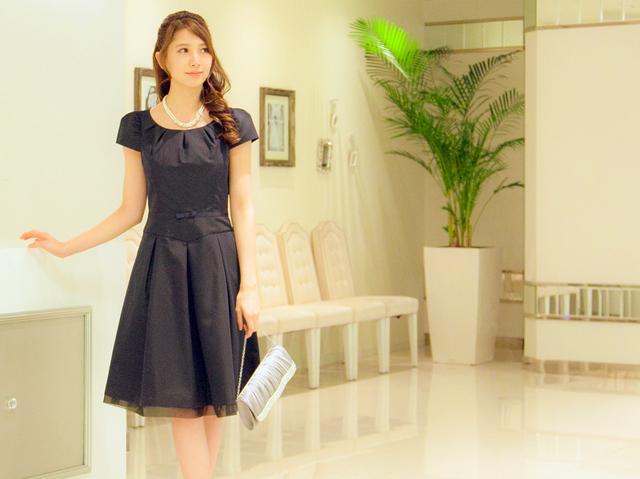 プリンセスラインのネイビードレス