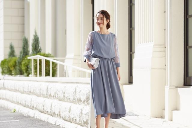 結婚式の参列に!トレンド感あるドレスを選ぶポイント1:ロング丈
