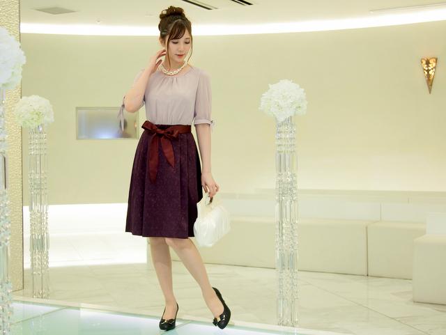 成人式 謝恩会にも最適な長袖ドレス!