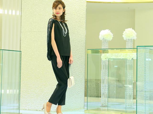 結婚式 レース パンツドレス 着たい ブラック