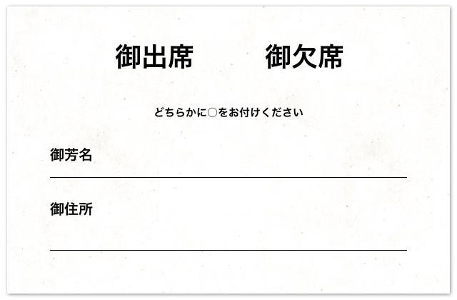 結婚式の招待状返信マナー|表面