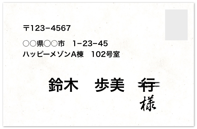 結婚式の招待状を返信するときは宛名を敬語表現に修正する