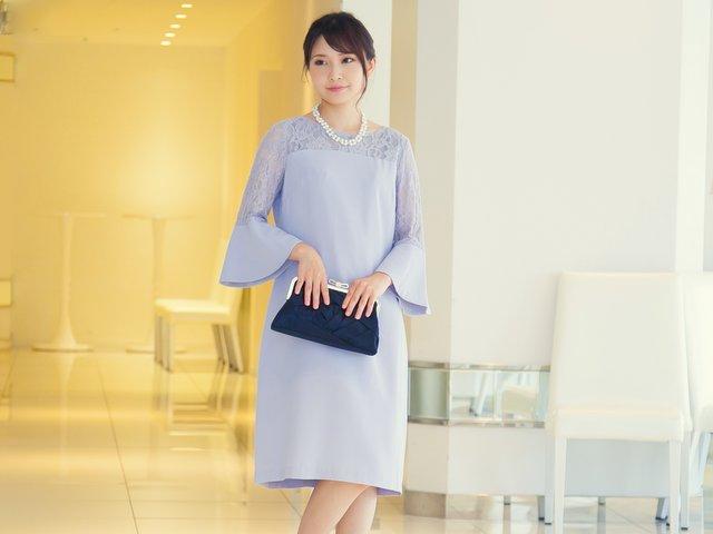 大人女子必見!お呼ばれで着たい『水色ドレス』のお手本コーデ