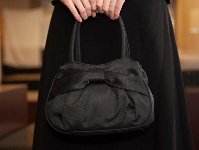嬉しいサブバッグ付き! ブラックフォーマルハンドバッグ