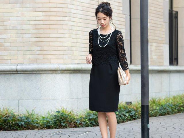 ブラックドレスで品良く!40代大人コーデ