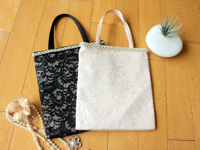 旬なレースがおしゃれ!バッグと同素材で持てる人気のサブバッグ