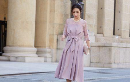 お呼ばれはピンクのドレスで決まり! 大人女子が選ぶワンピースはコレ!
